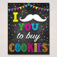 Cookie Booth Sign, Stop Cookies Sold Here, Printable Cookie Drop Banner, Cookie Booth Poster, Cookie Sale, INSTANT DOWNLOAD Fundraiser Booth