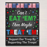 Cookie Booth Sign, If You Can't Eat 'Em Treat 'Em, Donate Cookies For Military Troops, Printable Cookie Drop Banner, INSTANT DOWNLOAD