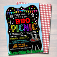 EDITABLE School Bbq Picnic Party Invite, Teacher Appreciation Week Printable, pta pto, Fundraiser Flyer End of School Party INSTANT DOWNLOAD