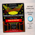 EDITABLE Auction Invitation/Flyer, Fundraiser Digital Invite, Black Tie Gala, Silent Auction, Church, School Event INSTANT DOWNLOAD