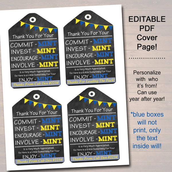 photograph regarding Thank You for Your Commit Mint Printable called Printable Thank Your self Tags, Volunteer Mint Labels, Printable, Immediate + EDITABLE, Thank On your own Reward, PTA Employees Present Appreciation Mint Choose Label