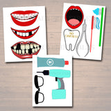 EDITABLE Dental Graduation Party Signs, Printable Photo Booth Props, Dentist Retirement Grad Party Invite Dental Hygienist, INSTANT DOWNLOAD