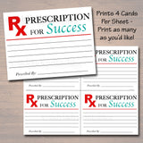 Medical Graduation Party Sign, Printable Grad Advice Words of Wisdom, Prescription for Success Pharmasist Nurse Party Decor