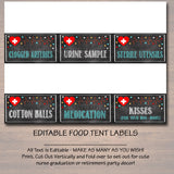 Editable Nurse Food Tent Labels, Printable Party Decor, Graduation Chalkboard Printable, Retirement Party, Nurse RN Invite, INSTANT DOWNLOAD