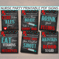 40% OFF HUGE Nurse Graduation Pack, Partially Editable + Instant, Graduation Chalkboard Printables, Nurse RN Decor, Party Signs, Labels Tags