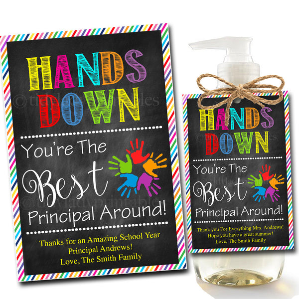 graphic about Hands Down You're the Best Printable referred to as EDITABLE Cleaning soap Label Tags, Stop of Higher education Yr Most important Reward Instantaneous Obtain Printable Trainer Appreciation Fingers Down Easiest Primary In close proximity to