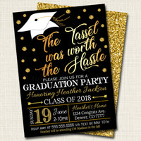 Editable Graduation Party Invitation High School Graduation Invitation Diy Digital Invite College Graduation Invitation Graduation Decor