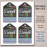 Printable Retirement Gift Tags, Mint Labels, Printable, INSTANT + EDITABLE, Have a Sweet Retire-MINT Mint Favor Label, Surprise Party Decor