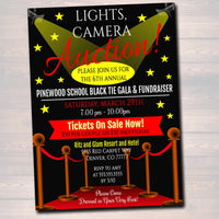 Auction Invitation/Flyer, Fundraiser  Invite, Black Tie Gala, Silent Auction, Church, School Event