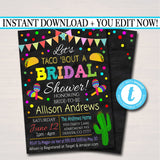Editable Fiesta Nacho Average Bridal Shower Invitation, Chalkboard Printable Wedding Fiesta Couples Shower Party Invite INSTANT DOWNLOAD