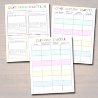 Printable Counselor Planner, Editable Undated Perpetual Calendar, INSTANT DOWNLOAD - 62 Pages, Lesson Plan Meeting Notes School Psychologist