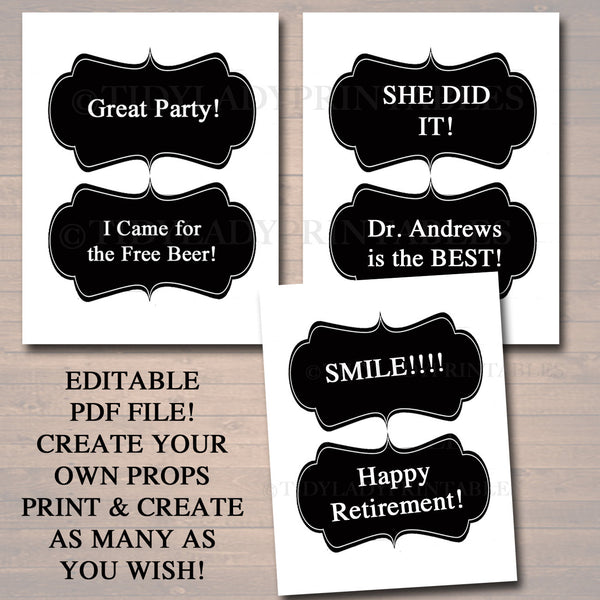 Dental Graduation Party Signs Printable Photo Booth Props