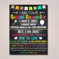 School Counselor Office Decor, I am Your School Counselor Sign, Psychologist Gift, Counseling Office, Counselor Gift Art, INSTANT DOWNLOAD