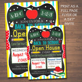EDITABLE School Open House Flyer, Printable PTA PTO Flyer, School Fundraiser Poster, Back To School Invite, Printable Invitation
