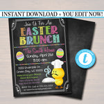 EDITABLE Easter Brunch Invitation, Easter Party Digital Invite, Printable Kids Easter Party, Easter Bunny Invitation INSTANT DOWNLOAD