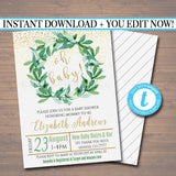 Oh Baby! Baby Shower Invitation - Editable Template