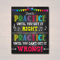 Music Teacher Classroom Printable Poster, Classroom Decor Practice, Music Quote, High School Band Music Teacher Gfts,  Art