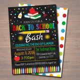 EDITABLE Back To School Party Invitation, Printable Digital Invite, Back to School, Backyard Party, End of Summer Bash chalkboard invitation