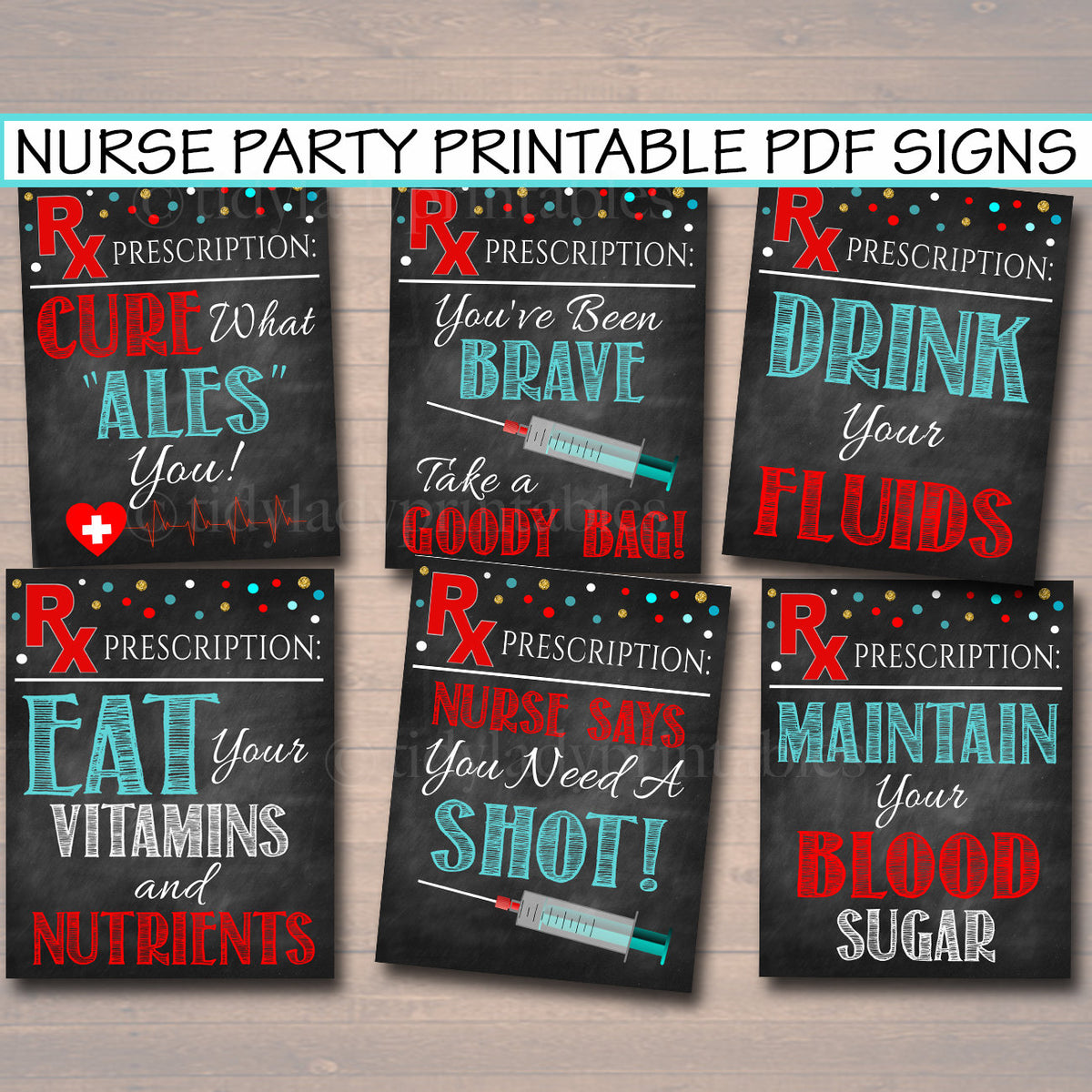 Nurse Graduation Party Signs Chalkboard Printable Rn