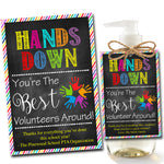 EDITABLE Soap Label Tags, End of School Year Vounteer Gift INSTANT DOWNLOAD Printable Volunteer Appreciation Hands Down Best Around Charity