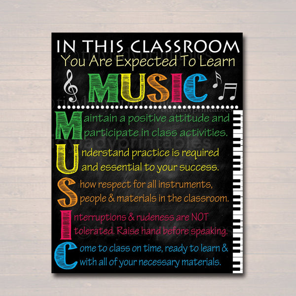 MUSIC Classroom Poster