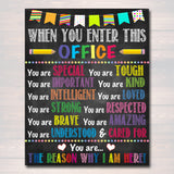 When You Enter This Office School Counselor Digital Poster, Therapist Decor, Social Worker Principal Office Sign Printable INSTANT DOWNLOAD