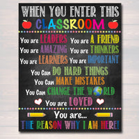 When you Enter This Classroom Rules Poster