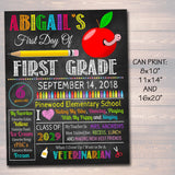 EDITABLE Back to School Photo Prop, Back to School Chalkboard Poster, Personalized School Chalkboard Sign, Any Grade Sign 1st Day of School