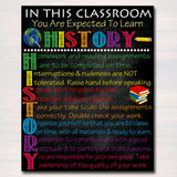 HISTORY Classroom Poster