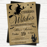EDITABLE Halloween Bridal Shower Party Invitation, Wedding Halloween Bachelorette Invite, Drink Up Witches, Cheers Witches, INSTANT DOWNLOAD