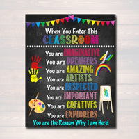 Art Teacher Printable Poster, Classroom Decor, Kindergarten Preschool Teacher, Daycare Homeschool Room Classroom Rules Sign INSTANT DOWNLOAD
