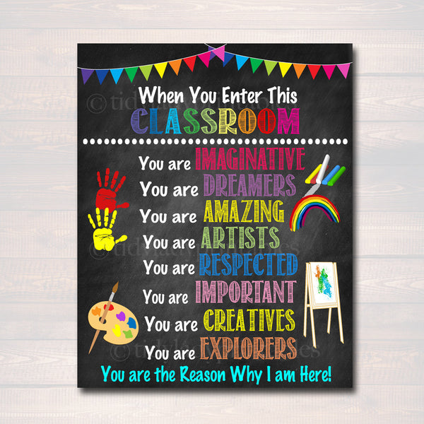 Art Teacher Printable Classroom Rules Poster