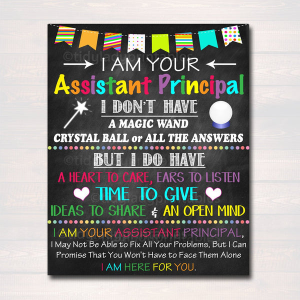 Assistant Principal Office Decor, I am Your Assistant Principal Sign, School Administrator Office Gift, Principal Decor Art INSTANT DOWNLOAD
