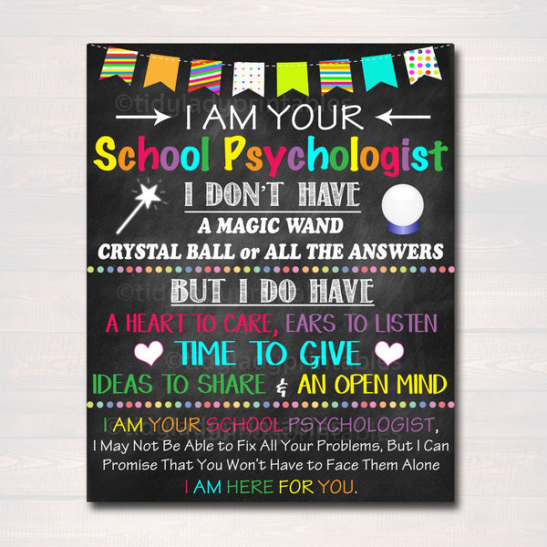 School Psychologist Office Decor, I am Your School Psychologist Sign, Psychologist Gift, Counseling Art, Therapist Gift, INSTANT DOWNLOAD