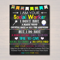 Social Worker Office Decor, I am Your School Social Worker Sign, School Social Worker Office Gift, Printable Poster Art, INSTANT DOWNLOAD