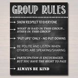 Counseling Office Confidentiality Poster and Group Rules Sign, School Counselor Office Decor, Therapist Social Worker, What You Say in Here