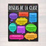 Hashtag Spanish Classroom Rules Poster Classroom Policies Reglas De La Clase, Educational Motivational Spanish Teacher Gift INSTANT DOWNLOAD