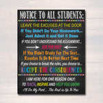Notice To All Students Classroom Teacher Poster Sign