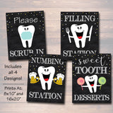 Dental Retirement Party Signs, Chalkboard Printable, Dentist Orthodontist Graduate, Graduation Decor, Dental Hygienist,
