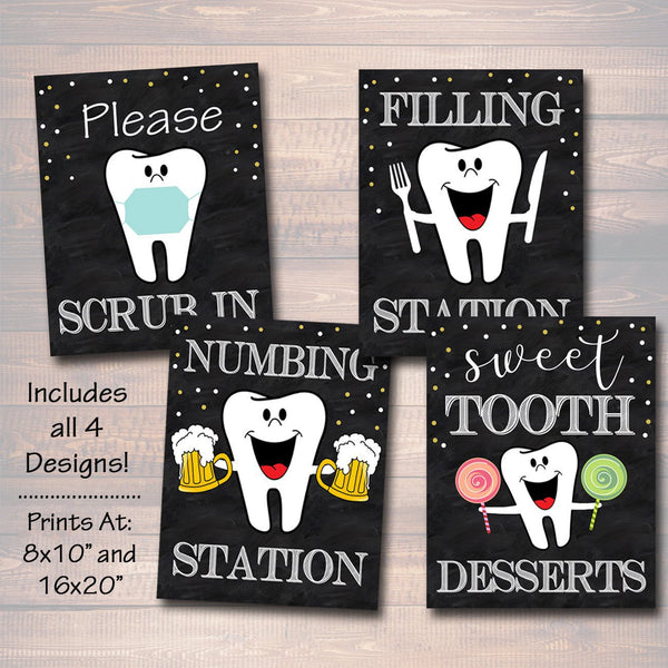 Dental Retirement Party Signs, Chalkboard Printable, Dentist Orthodontist Graduate, Graduation Decor, Dental Hygienist, INSTANT DOWNLOAD