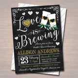 EDITABLE Love is Brewing Bridal Couples Shower, Tea Coffee Party, Wedding Chalkboard Invitation, Valentine's Cozy Winter, INSTANT DOWNLOAD