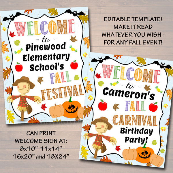 graphic relating to Halloween Signs Printable identified as EDITABLE Slide Pageant Slide Harvest Flyer/Poster Printable