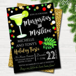 Margaritas and Mistletoe Invitation Christmas Party Invite, Holiday Party Adult Cocktail Party Holiday Ugly Sweater  Invite