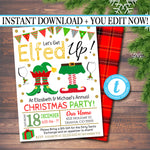 Printable Let's Get Elfed Up Invitation, Christmas Party Invitation, Holiday Party Invite Adult Christmas Party, Holiday Ugly Sweater Invite