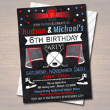 EDITABLE Ice Hockey Birthday Party Invitation, Boy Sports Team Hockey Digital Banquet Celebration Invite, Kids Teen Party, INSTANT DOWNLOAD