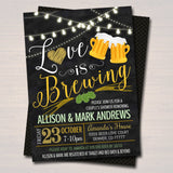 EDITABLE Love is Brewing Bridal Couples Shower, Beer Keg Party, Wedding Chalkboard Invitation, Lucky St. Patricks Day, INSTANT DOWNLOAD