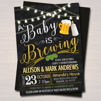 EDITABLE A Baby is Brewing Couples Shower, Beer Keg Party, Baby Sprinkle Chalkboard Invitation, Lucky St. Patricks Day Baby INSTANT DOWNLOAD