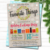 EDITABLE Favorite Things Exchange Party Invitation, Bridal Shower Invite, Teacher Party Holiday Invite, Dirta Santa Party INSTANT DOWNLOAD