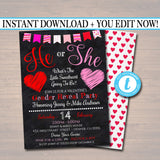 Gender Reveal Party Invitation, Valentine's Day Baby Shower, Couples Sprinkle, What Will The Little Sweetheart Be?