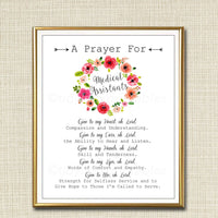 Medical Assistant Prayer Art, Nursing Gift, Religious Wall Art, Nursing Student Gift, Medical Office Decor INSTANT DOWNLOAD, Art Printable